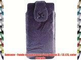 Suncase - Funda de cuero para Sony Xperia ZL / ZL LTE color morado