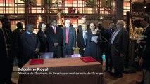 Ségolène Royal signe une déclaration pour renforcer la protection de la biodiversité en Zambie