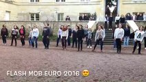 Flash mob unss, euro2016, Collège Chavagnes LOUDUN