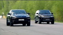 Porsche Cayenne Turbo Gemballa vs Land Rover RRS vs Mercedes-Benz ML63 AMG