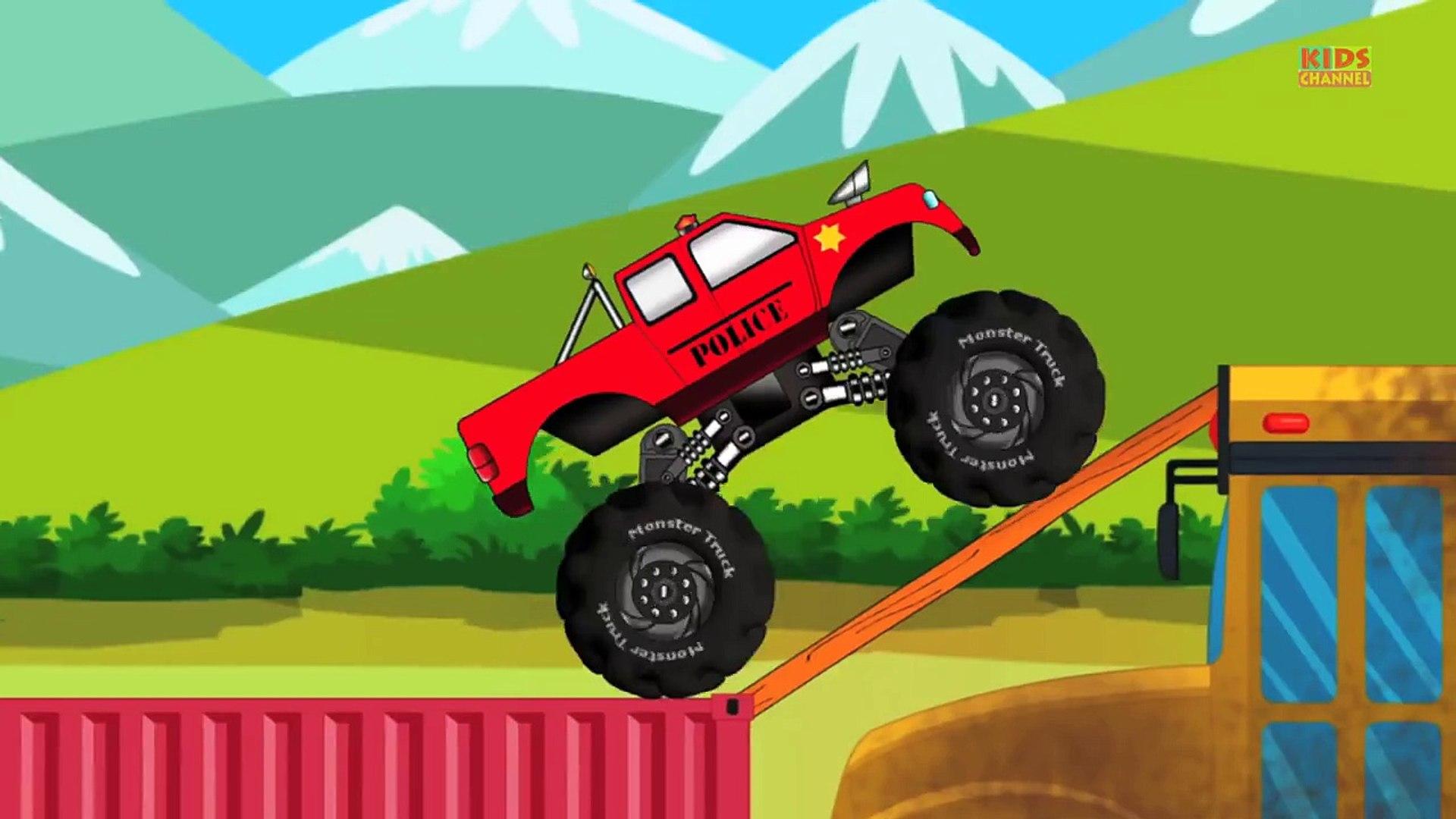 Monster Truck Stunts Monster Truck Kids Games Dailymotion Video