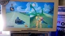 Mario Kart 8 GameStop Off Screen Cloudtop Cruise Gameplay