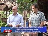 Lao NEWs on LNTV: Australia Laos provide clean water to households & schools across Laos.2