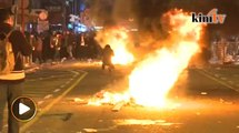 Violent street clashes erupt in Hong Kong