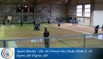 Tir progressif, premier tour, Club Elite Féminin, J9, Nyons vs Digoin, Sport Boules, saison 2015-2016