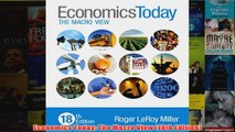 Download PDF  Economics Today The Macro View 18th Edition FULL FREE