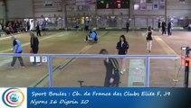 Tir rapide en double, troisième tour, Club Elite Féminin, J9, Nyons vs Digoin, Sport Boules, saison 2015-2016