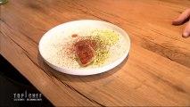 Rouget, sucs de volaille grillée, brocolis et chocolat d'Alexandre Mazzia