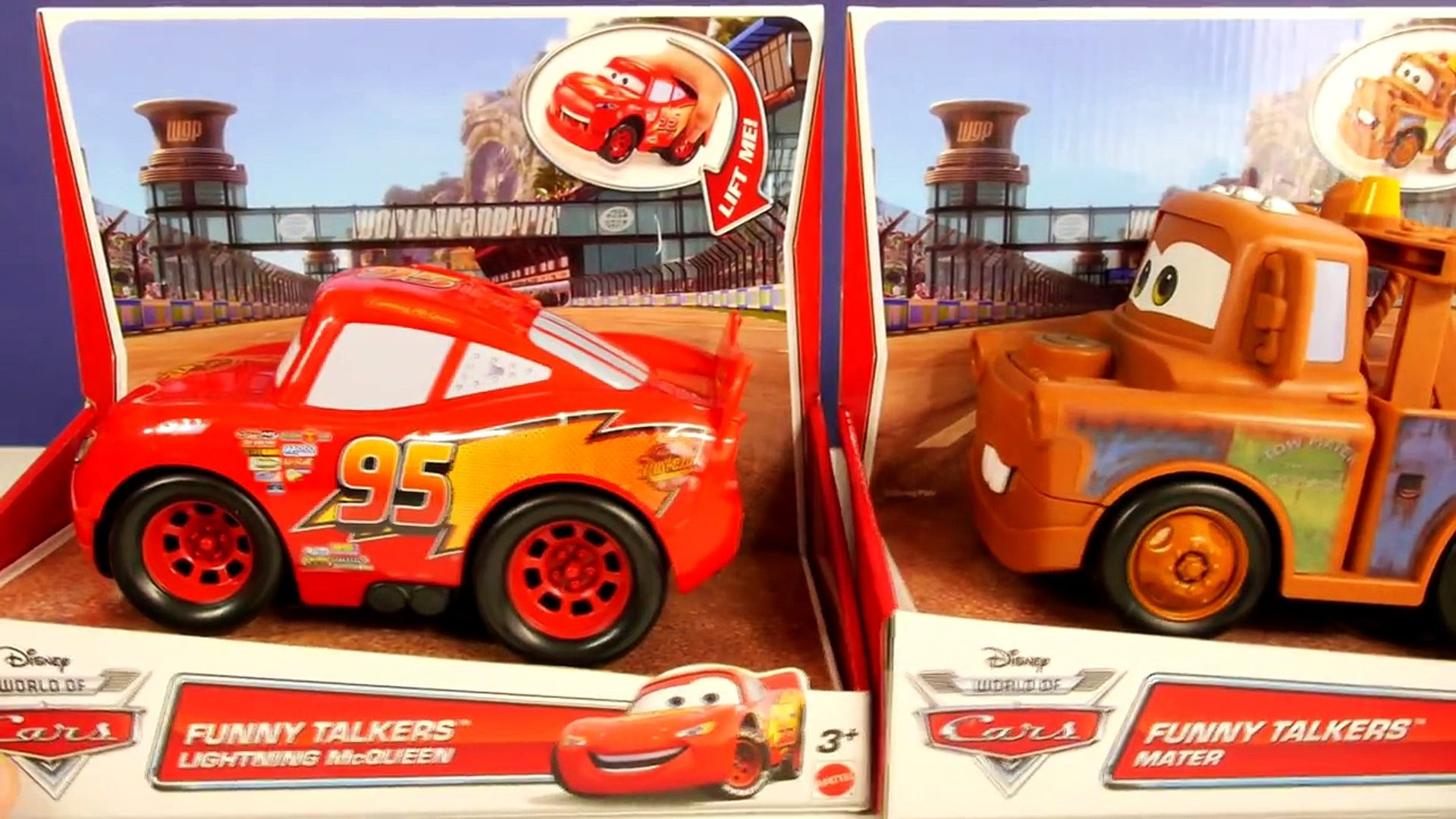 2014 Cars 2 Talking Lightning Mcqueen And Funny Talkers Mater Disney Pixar Cars Toys Video Dailymotion