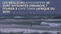 Impressionnantes images d'une compétition de kitesurf en Afrique du Sud