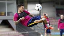 Last FC Barcelona training session before Copa del Rey trip to Valencia