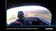 Un pilote d'avion  effectue un atterrissage d'urgence après une panne moteur, la vidéo choc !  (Vidéo)