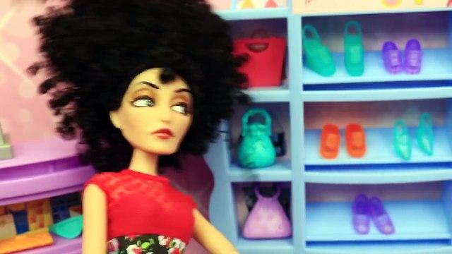 Barbie Shopping Mall with Disney Frozen Elsa and Prince Hans Barbie Dolls Parody DisneyCar