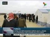 Miles de refugiados sirios continúan llegando a la frontera turca