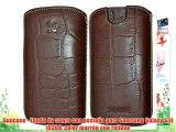 Suncase - Funda de cuero con pestaña para Samsung Galaxy SIII i9300 color marrón con relieve