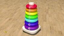 Apprendre les couleurs et chiffres en français Jouets pour bébé pyramide Learn French