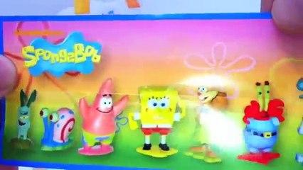 SpongeBob Kinder Surprise Chocolate Egg Unboxing - Bob Esponja Kinder Sorpresa