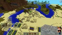 Minecraft PE seed with village and stronghold at spawn