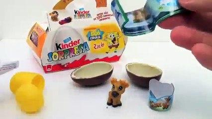 Natoons Kinder Surprise Egg Unboxing - Kidstvsongs