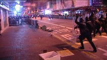Disturbios callejeros en Hong Kong