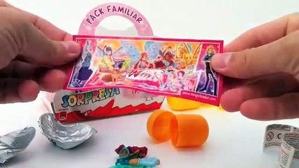 Kinder Surprise Eggs Unboxing Winx Club