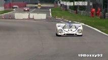 Porsche 917K Flat 12 Pure Engine Sound In Action on Track