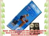 Maxell - mini discos grabables DVD-R en funda delgada (16 discos de 8cm DVD-R) para cámaras