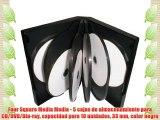 Four Square Media Media - 5 cajas de almacenamiento para CD/DVD/Blu-ray capacidad para 10 unidades
