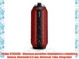 Philips BT6600R - Altavoces portátiles (Inalámbrico y alámbrico Batería Bluetooth/3.5 mm Universal