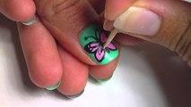 Butterfly nail art - Butterfly Nail Art - Easy Butterfly Nail Art Design Tutorial