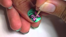 Butterfly nail art - Butterfly Nail Art - Easy Butterfly Nail Art Design Tutorial