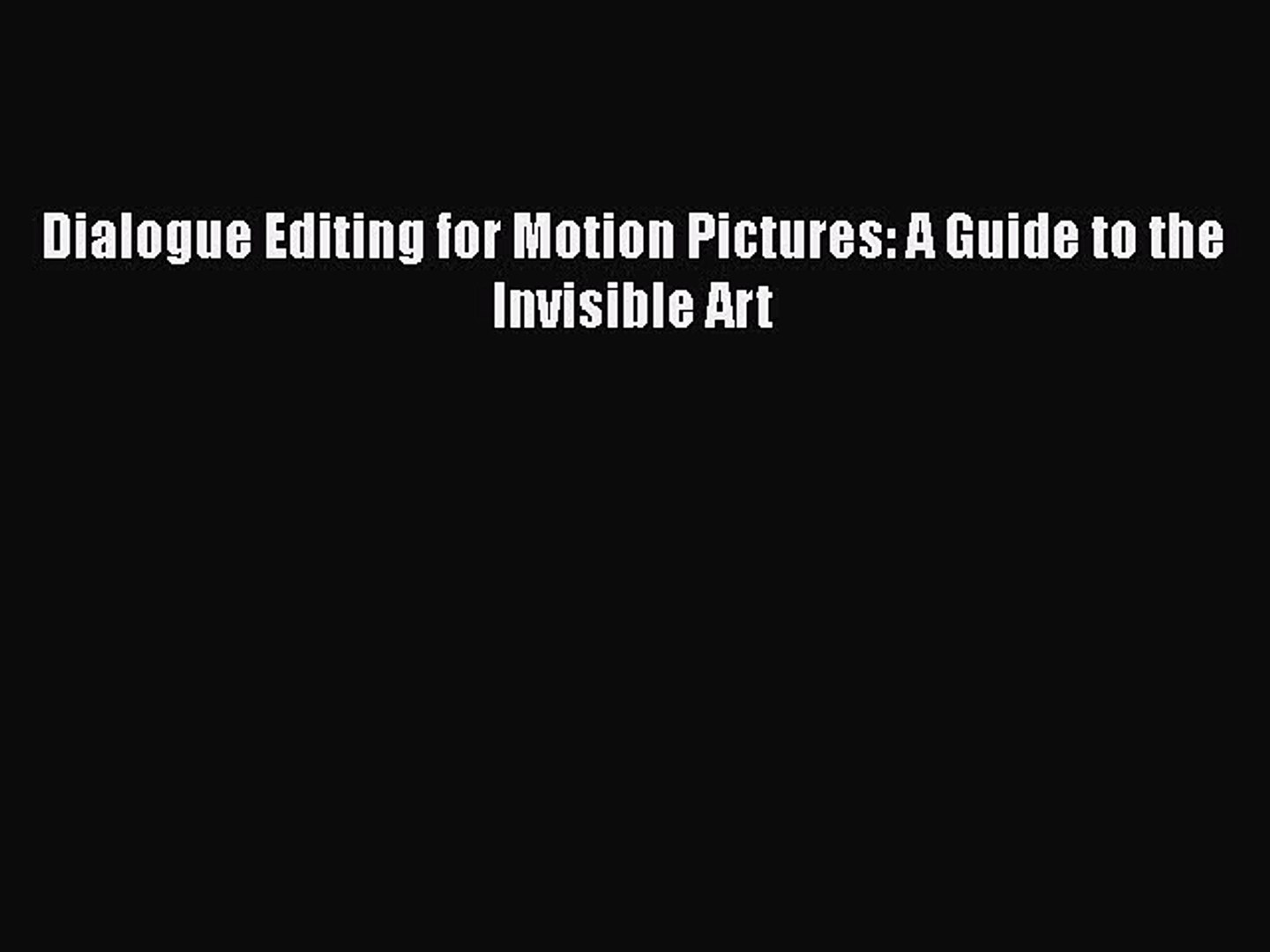 A Guide to the Invisible Art