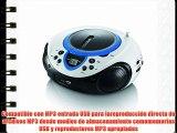 Lenco SCD-38 USB BLUE - Radio de 2 W (FM MP3 WMA USB 3.5 mm pantalla LED) azul