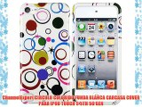 ChannelExpert CIRCULO COLORIDO FUNDA BLANCA CARCASA COVER PARA IPOD TOUCH 5 5TH 5G GEN