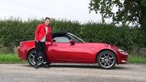 Sexy Girl sports car Mazda MX-5 review 2016