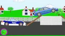Voiture de Police 6. Des voitures. De droles de dessins animes pour les enfants