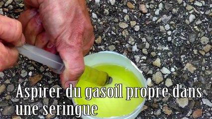 Méthode rapide pour amorcer une pompe à gasoil sans poire d'amorçage
