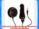 CARCHET Estéreo Transmisor Bluetooth 4.0 USB Cargadores de Coche Manos Libres para Coche