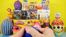 Playdough Eggs Kinder Surprise Toys Disney Vinylmation Chaos Bunnies Marvel MLP Toy Play Doh