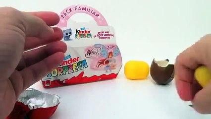 Kinder Surprise Eggs Unboxing Winx Club - Porsche Car