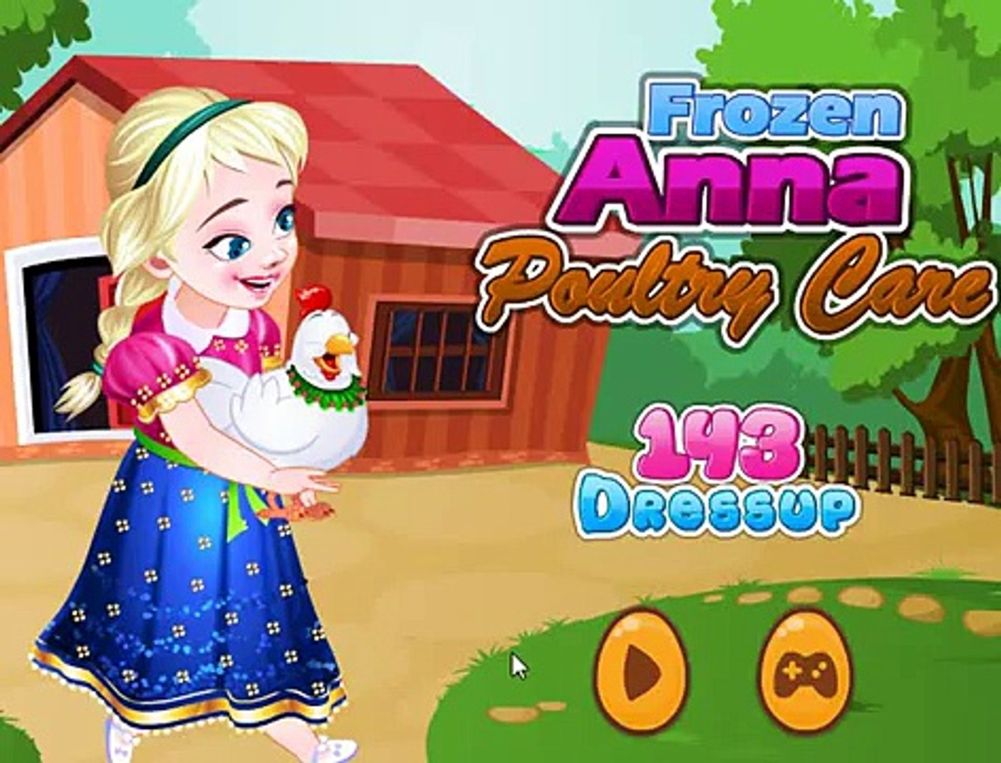Холодное сердце: Анна на птицеферме ( Frozen Anna Poultry Care ) - Games for Kids