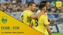 FCGB-FCN : la réaction des joueurs