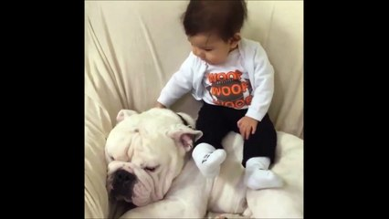 Baby chills with his best massive Dog Friend!