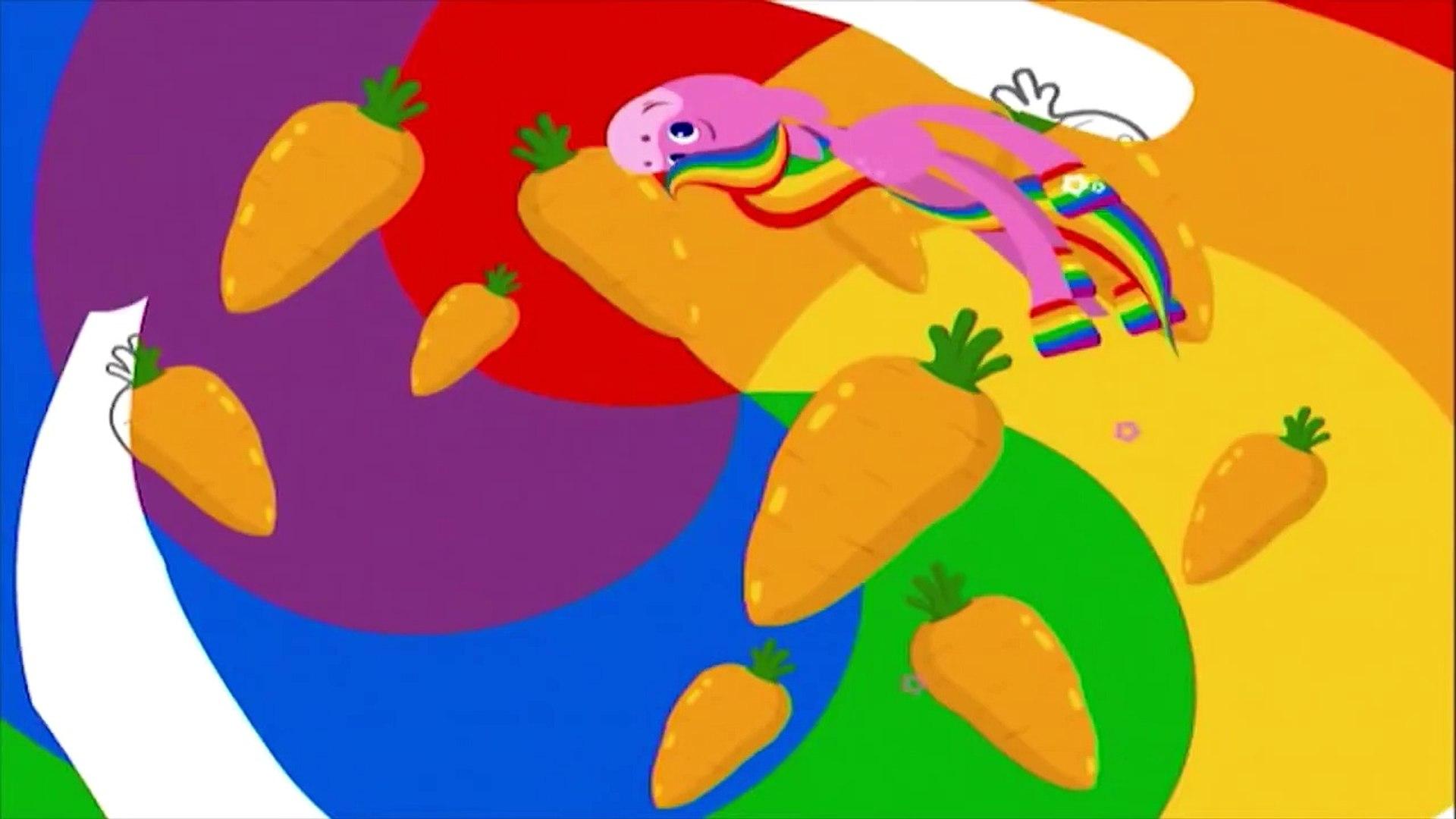 Мультфильмы для малышей BabyFirstTV - ЛОШАДКА РАДУГА, цвета для малышей - учим цвета и овощи