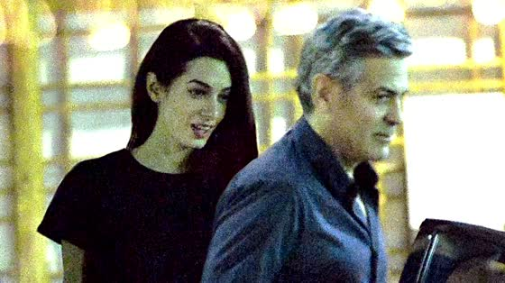 George Clooney Takes Amal for Pre Valentine's Day Dinner
