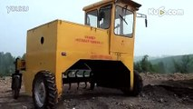 2300-Self-Propelled Compost Windrow Turner in Working