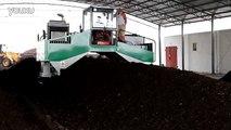 Hydraulic Compost Turner in Organic Fertilizer Composting