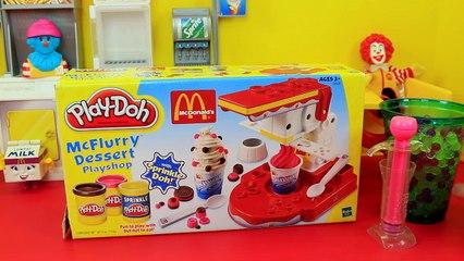 Orbeez Crush McDonalds McFlurry Desserts! Sweet Treats Make Your Play Doh McDonalds Ice Cr
