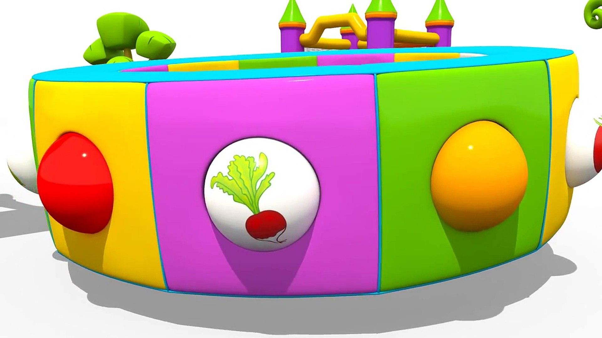 Мультик про Экскаватор Масю и Грузовичок Леву: Веселая Карусель овощи для детей