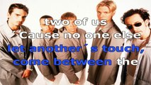 Backstreet Boys - No one else come close - karaoke lyrics